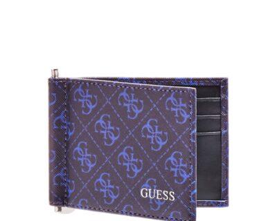 GUESS W20 Dan logo Porta carte di credito uomo e soldi con clip